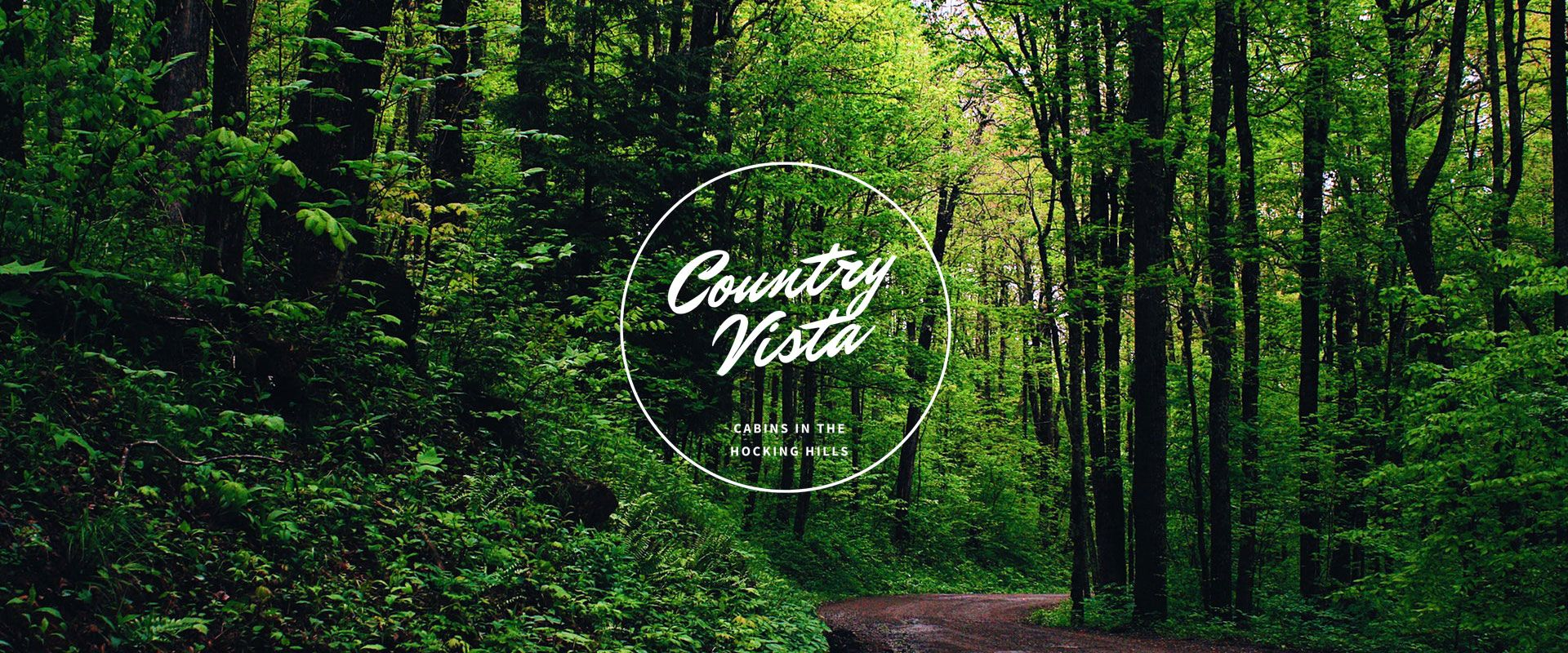 Cabin at country vista banner